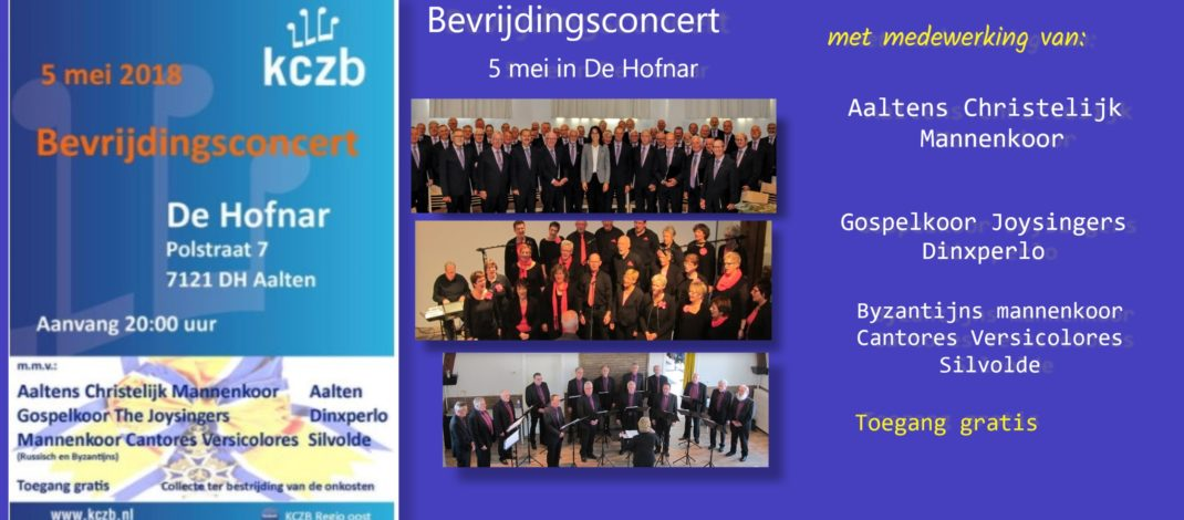 Bevrijdingsconcert 5 mei in De Hofnar