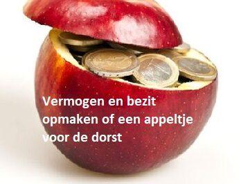 Vermogen en bezit opmaken of een appel voor de dorst